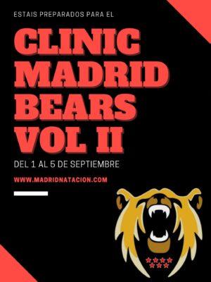 clinic de natacion Madrid natación Bears club